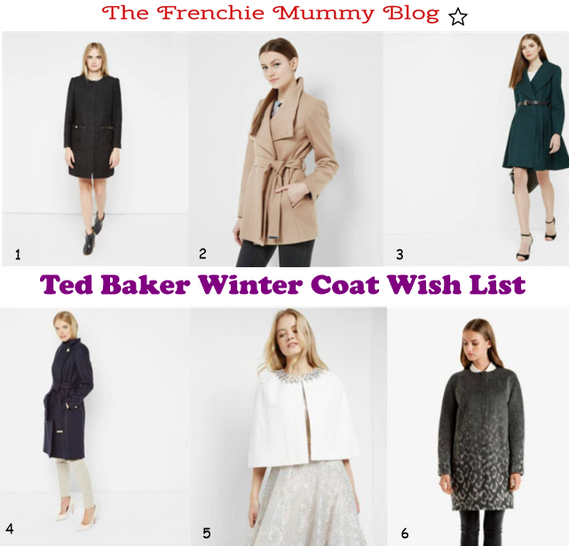 winter coats wish list from Ted Baker